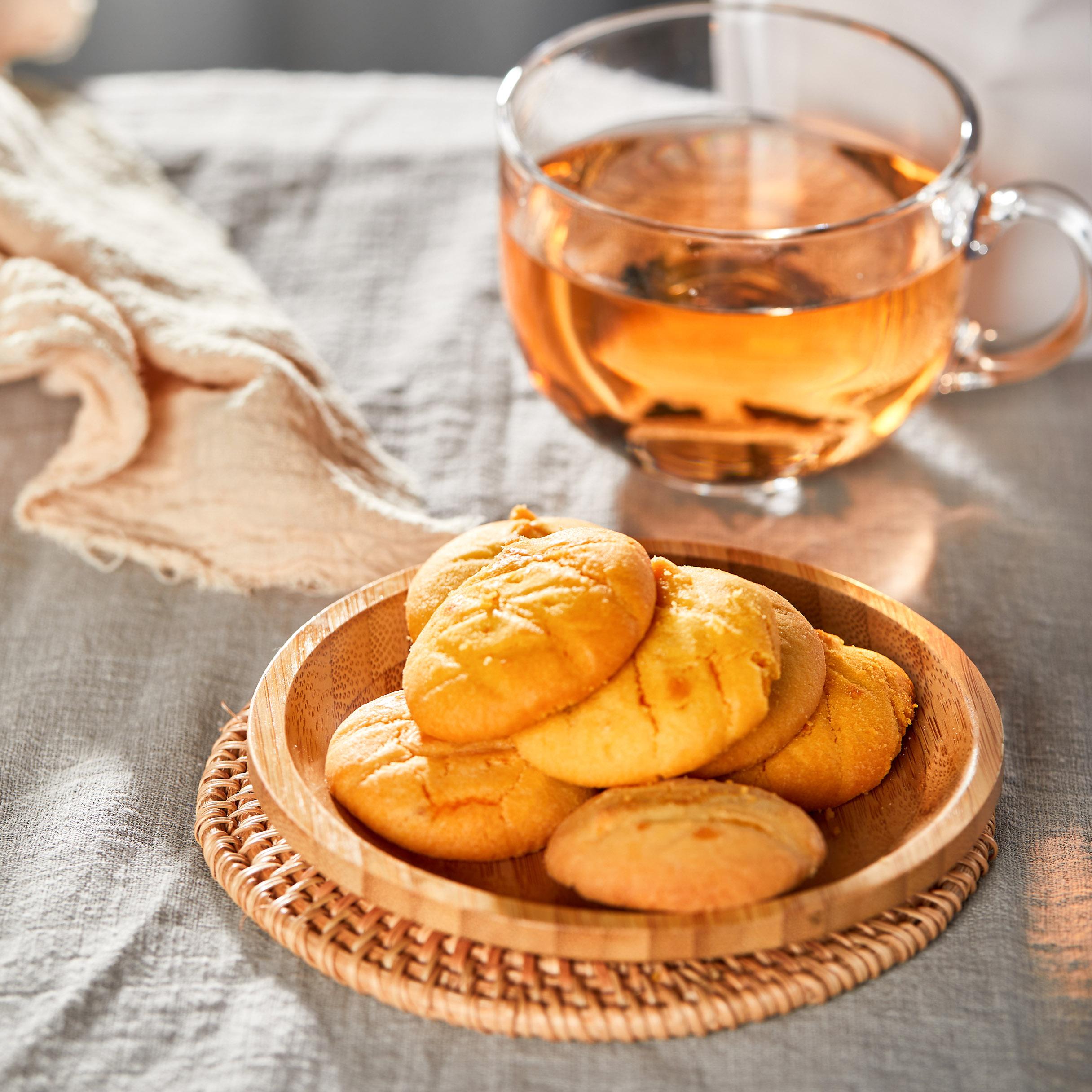 芒果爆浆软流夹心曲奇饼干酥 150g/袋 糕点心吃货充饥小零食夜宵