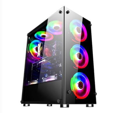 水冷i7八核高端家用游戏型吃鸡DIY组装电脑主机台式全套高配整机