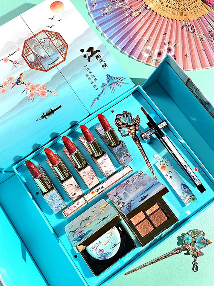 故宫口红彩妆套装礼盒大牌正品唇彩膏国货美妆全套组合联名化妆品